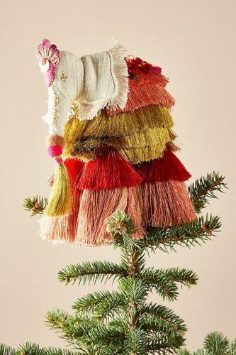 Anthropologie Majestic Elephant Tassels Boho Christmas Tree Topper $78 NWT