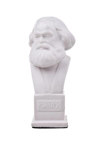 German Philosopher Socialist Karl Marx Marble Bust Statue Sculpture 4.9