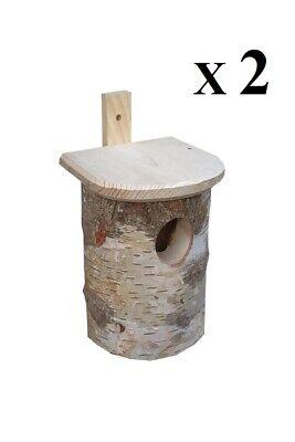 2 x Nistkästen für die Vögel,Nistkasten, Vogelhaus aus Holz, Super-Set, BBL-2