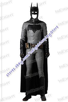 Justice League Bruce Wayne Cosplay Costume Full Set Uniform Halloween