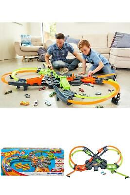 New Hot Wheels Colossal Crash Track Set Double Figure-Eight Design Kids Gift