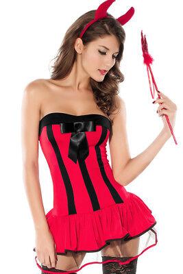 sexy Teufelskostüm Damen Kostüm Teufel Teufelin Hölle Halloween - Rote Teufel Kostüm