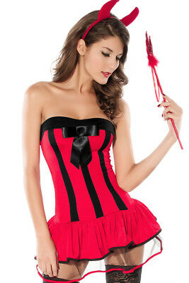 sexy Teufelskostüm Damen Kostüm Teufel Teufelin Hölle Halloween Wäschebeutel