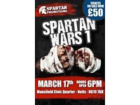 SPARTAN WARS 1 BARE KNUCKLE BOXING TICKETS 17TH MARCH