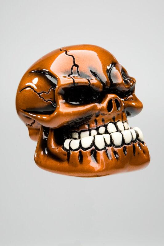"Van Chase custom shift knob - ""Punchy"" -Metallic Pumpkin Orange"