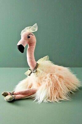 NWT Anthropologie Fancy Flamingo Stuffed Toy