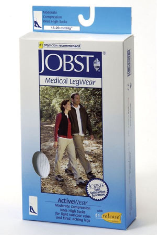 Jobst ActiveWear 15-20 Compression Support Knee High Socks C