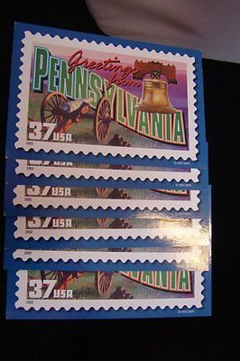 - Greetings from Pennsylvania 37 cent USA Post card eBay Live 2001 lot of 6 NEW