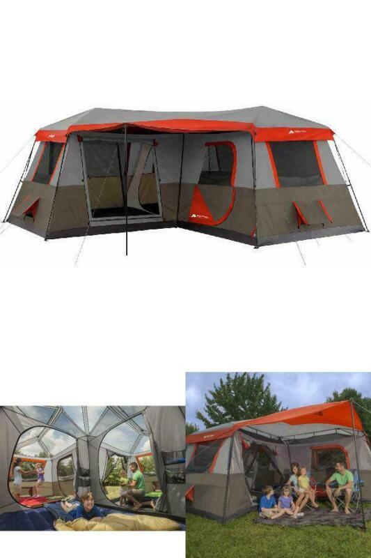 3 Room Tent Ozark Trail 16x16 Instant Cabin Tent Sleeps 12