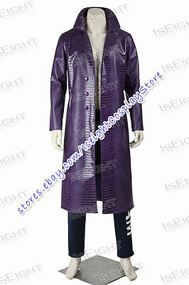 Suicide Squad 2016 Jared Leto's Joker Cosplay Costume Halloween Outfit Uniform