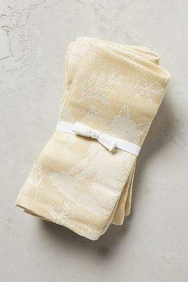 NIP Anthropologie Clever Creature Napkin Set, gold, Set of 4