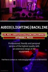 PA | Audio | Lighting | Backline | Hire for any Event