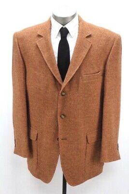 orange herringbone ORVIS highland HARRIS TWEED blazer jacket sport coat 44 R