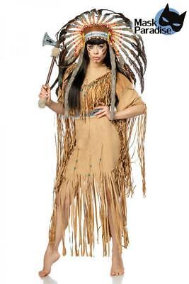 Indianerinkostüm Native American Indianer Kostüm Damen Fasching Karneval Gr - Native Kostüm