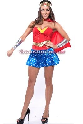 Halloween Special Wonder Woman Ladies w/cape and armband  EXPRESS FROM SYDNEY - Wonder Woman Halloween Express