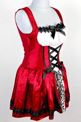 Kostüm Rotkäppchen mit Cape 2teilig Fasching Karneval Gothic - Gothic Rotkäppchen