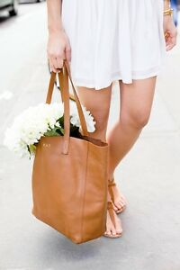 AUTHENTIC SAN FRANCISCO CUYANA LEATHER TOTE BAG!