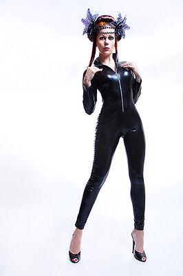 Lycra Ganzanzug Catsuit mit abnehmbarer Haube.