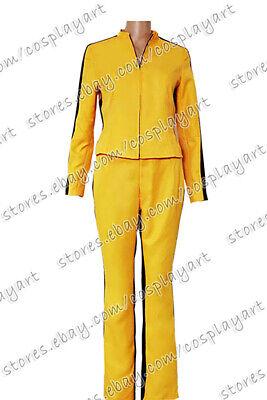 Kill Bill The Bride Beatrix Michelle Kiddo Cosplay Costume Yellow Uniform Jacket
