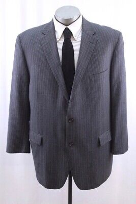 charcoal stripe HART SCHAFFNER MARX blazer jacket sport suit coat chicago 50 -