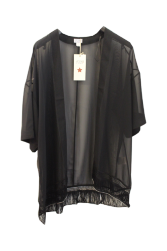 297fd32e196bca Damen Bluse Tunika Angel of Style offen schwarz transparent Gr 48 50 52 54  B134 ...
