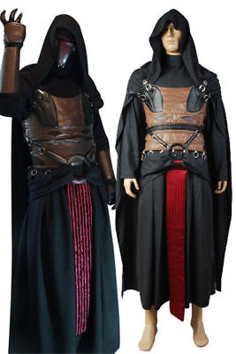 Star Wars Sith Dark Lord Darth Revan Cosplay Costume Uniform Outfit Cape Robe (Sith Outfit)