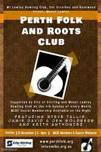 Perth Folk and Roots Club Guildford Swan Area Preview