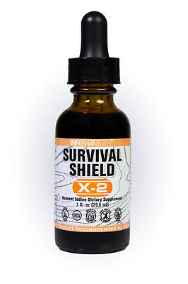Alex Jones Infowars Life  Survival Shield X 2 Nascent Iodine See Bulk Note Too