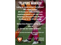 Female footballers wanted