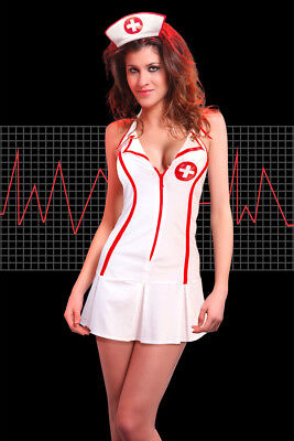 sexy Krankenschwester Ärztin Arzt Uniform Kostüm Karneval Wäschebeutel