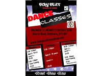 DANCE CLASSES: STREET, SHOW, SLOW DANCE