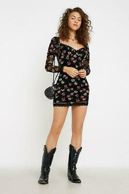 Kiss The Sky UO Urban Outfitters Flutter Mini Dress size S BNWT RRP £35  #62