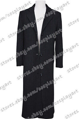 Leon: The Professional Cosplay Leon Costume Black Wool Coat Halloween Party  - The Professional Halloween Costumes
