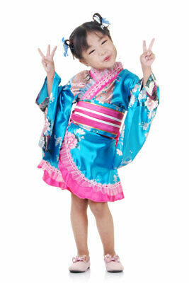 Mädchen Kinder Kostüm Geisha Kimono Japanerin Samurai Yukata Kleid - Kinder Geisha Mädchen Kostüm
