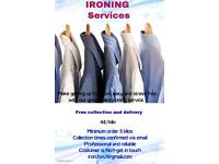 Ironing services with free collection and delivery