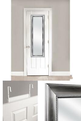 Over Door Mirror Silver Bedroom Full Length Vertical 5 Foot