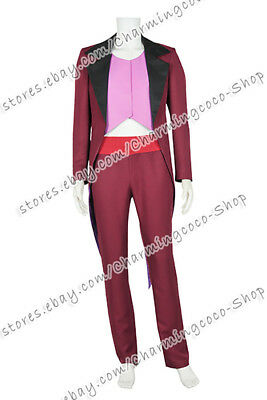 The Princess And The Frog Doctor Facilier The Shadow Man Cosplay Costume Uniform](Shadow Man Costume)