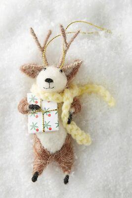 Johana Molina X Anthropologie Felt Wool Reindeer Games Christmas Ornament NEW ()