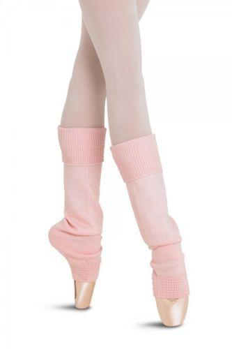 Supersoft Bloch Lt Pink Eliane Ankle Legwarmers Ribbed Cuff Ladies Sz  W0962