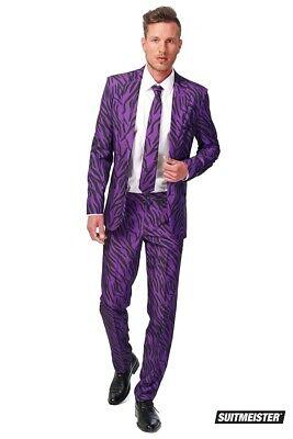 Pimp Tiger Zuhälter Anzug Suitmeister Slimline Economy - Lila Kostüm Pimp