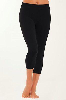 Seamless capri legging Black color Women one size fits S M L