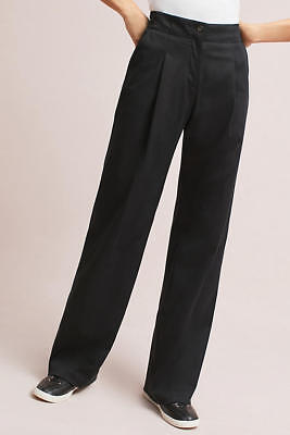 NWT Anthropologie The Essential Wide-Leg Trousers Pants Size 4