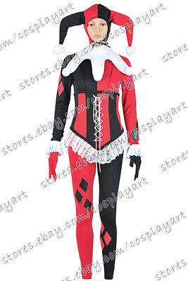 Batman Cosplay Harley Quinn Female Clown Uniform Costume New Jumpsuit Suit - Female Batman Cosplay