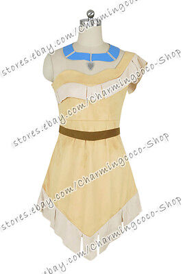 Pocahontas Princess Pocahontas Dress Cosplay Costume Suede Party Dress](Cosplay Pocahontas Costume)