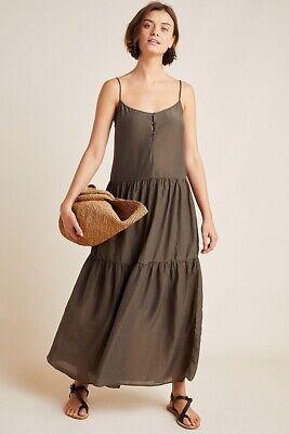 Anthropologie Simone Tiered Maxi Dress Velvet Graham Spencer Flowy Sz Small $257