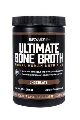 Infowars Life™ Ultimate Bone Broth Paleo Formula (15 Servings, Chocolate)
