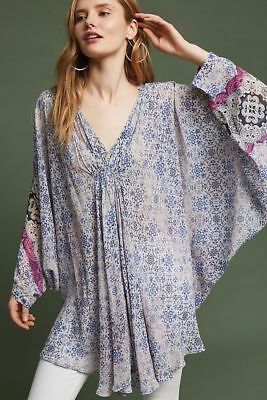 Floreat Georgette Poncho-One Size-$118 MSRP Georgette Poncho