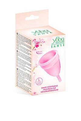 Copa Menstrual rosa talla L 100% silicona Yoba Nature ENVÍO 24 H
