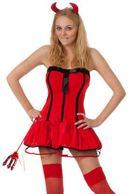 Damen Teufel Halloween-kostüm (sexy Teufel Kostüm Damen & Hörner & Dreizack Teufelin Halloween K Wäschebeutel)