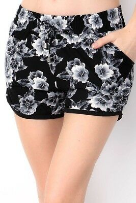 Delicate Blooms - Midnight Bloom Sizes SM/MED And LG/XL Amazing Buttery Soft Shorts